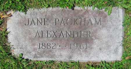 ALEXANDER, JANE - Clark County, Ohio | JANE ALEXANDER - Ohio Gravestone Photos