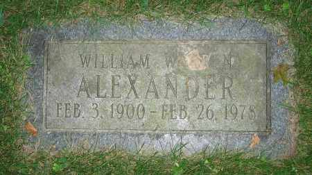 ALEXANDER, WILLIAM WARREN - Clark County, Ohio | WILLIAM WARREN ALEXANDER - Ohio Gravestone Photos