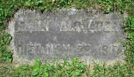ALTVATER, EMILY - Clark County, Ohio | EMILY ALTVATER - Ohio Gravestone Photos