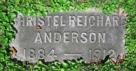 REICHARD ANDERSON, CHRISTEL - Clark County, Ohio | CHRISTEL REICHARD ANDERSON - Ohio Gravestone Photos