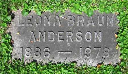 BRAUN ANDERSON, LEONA - Clark County, Ohio | LEONA BRAUN ANDERSON - Ohio Gravestone Photos
