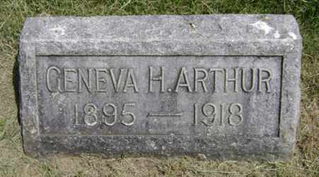 HARVEY ARTHUR, GENEVA - Clark County, Ohio | GENEVA HARVEY ARTHUR - Ohio Gravestone Photos