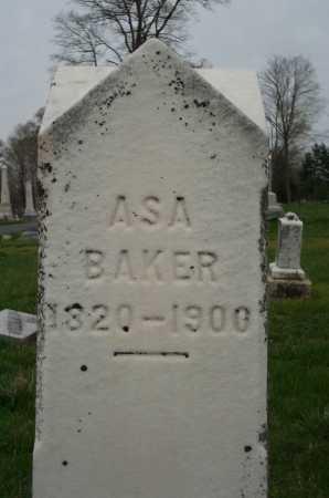 BAKER, ASA - Clark County, Ohio | ASA BAKER - Ohio Gravestone Photos