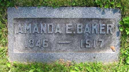 BAKER, AMANDA E. - Clark County, Ohio | AMANDA E. BAKER - Ohio Gravestone Photos