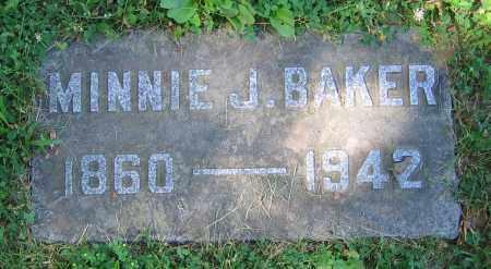 BAKER, MINNIE J. - Clark County, Ohio | MINNIE J. BAKER - Ohio Gravestone Photos