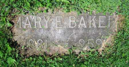 BAKER, MARY E. - Clark County, Ohio | MARY E. BAKER - Ohio Gravestone Photos