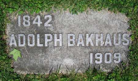 BAKHAUS, ADOLPH - Clark County, Ohio   ADOLPH BAKHAUS - Ohio Gravestone Photos