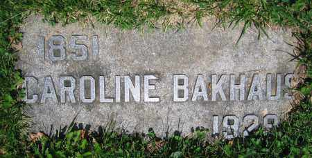 BAKHAUS, CAROLINE - Clark County, Ohio | CAROLINE BAKHAUS - Ohio Gravestone Photos
