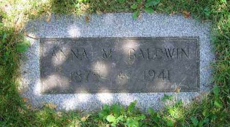 BALDWIN, ANNA M. - Clark County, Ohio | ANNA M. BALDWIN - Ohio Gravestone Photos