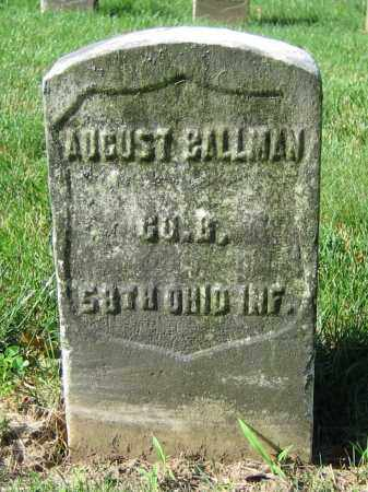BALLMAN, AUGUST - Clark County, Ohio | AUGUST BALLMAN - Ohio Gravestone Photos