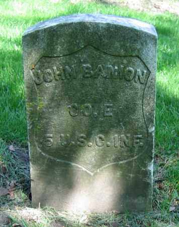 BANION, JOHN - Clark County, Ohio | JOHN BANION - Ohio Gravestone Photos