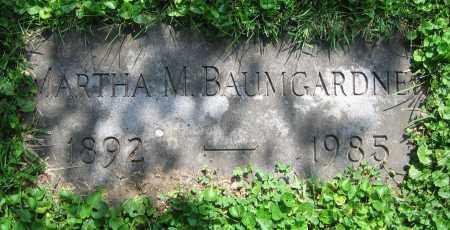 BAUMGARDNER, MARTHA M. - Clark County, Ohio   MARTHA M. BAUMGARDNER - Ohio Gravestone Photos