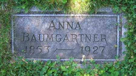 BAUMGARTNER, ANNA - Clark County, Ohio | ANNA BAUMGARTNER - Ohio Gravestone Photos