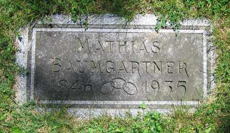 BAUMGARTNER, MATHIAS - Clark County, Ohio | MATHIAS BAUMGARTNER - Ohio Gravestone Photos