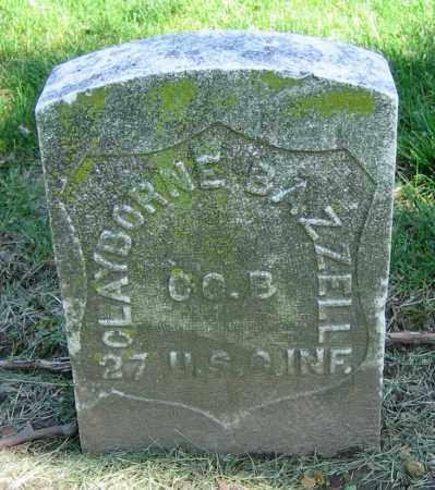 BAZZELL, CLAYBORNE - Clark County, Ohio | CLAYBORNE BAZZELL - Ohio Gravestone Photos