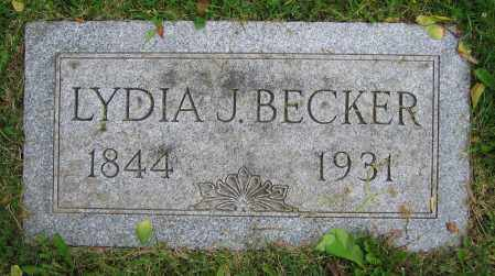 BECKER, LYDIA J. - Clark County, Ohio   LYDIA J. BECKER - Ohio Gravestone Photos