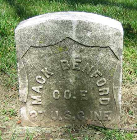 BENFORD, MACK - Clark County, Ohio | MACK BENFORD - Ohio Gravestone Photos