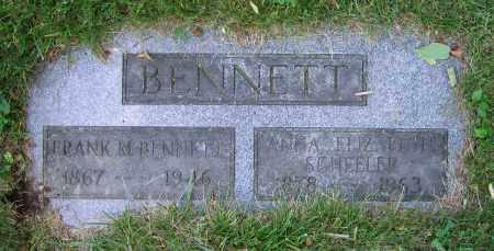 SCHEELER BENNETT, ANNA ELIZABETH - Clark County, Ohio | ANNA ELIZABETH SCHEELER BENNETT - Ohio Gravestone Photos