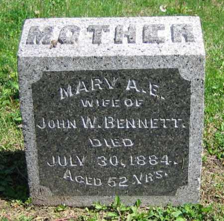 BENNETT, MARY A.E. - Clark County, Ohio | MARY A.E. BENNETT - Ohio Gravestone Photos