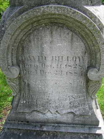 BILLOW, DAVID - Clark County, Ohio | DAVID BILLOW - Ohio Gravestone Photos