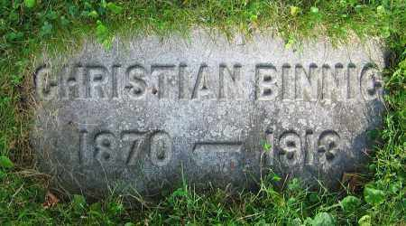 BINNIG, CHRISTIAN - Clark County, Ohio | CHRISTIAN BINNIG - Ohio Gravestone Photos