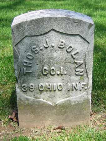 BOLAN, THOS. J. - Clark County, Ohio | THOS. J. BOLAN - Ohio Gravestone Photos