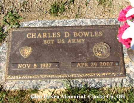 "BOWLES, CHARLES ""DON"" - Clark County, Ohio 