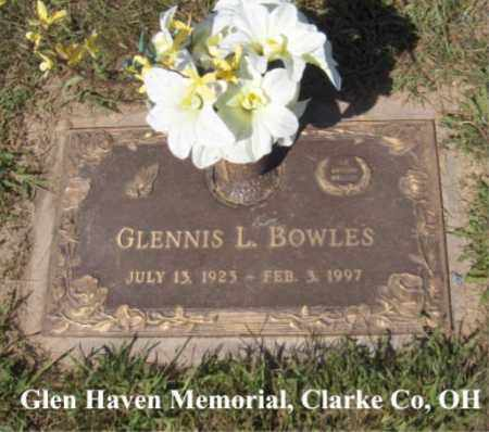 BOWLES, GLENNIS - Clark County, Ohio | GLENNIS BOWLES - Ohio Gravestone Photos