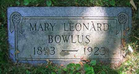 BOWLUS, MARY - Clark County, Ohio | MARY BOWLUS - Ohio Gravestone Photos