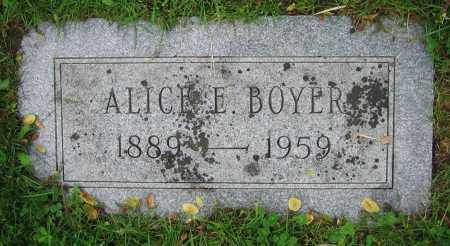 BOYER, ALICE E. - Clark County, Ohio | ALICE E. BOYER - Ohio Gravestone Photos