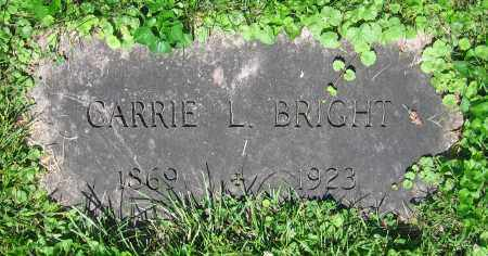 BRIGHT, CARRIE L. - Clark County, Ohio | CARRIE L. BRIGHT - Ohio Gravestone Photos