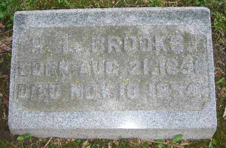 BROOKS, H.L. - Clark County, Ohio | H.L. BROOKS - Ohio Gravestone Photos