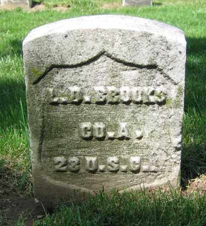 BROOKS, L.D. - Clark County, Ohio   L.D. BROOKS - Ohio Gravestone Photos