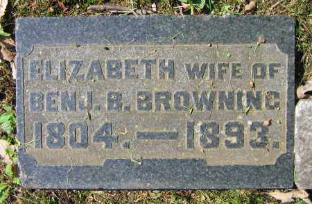 BROWNING, ELIZABETH - Clark County, Ohio | ELIZABETH BROWNING - Ohio Gravestone Photos
