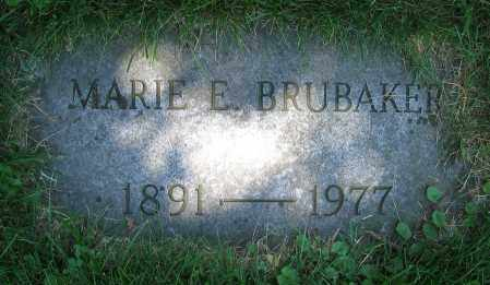 BRUBAKER, MARIE E. - Clark County, Ohio | MARIE E. BRUBAKER - Ohio Gravestone Photos