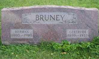 BRUNEY, EMMA GERTRUDE - Clark County, Ohio | EMMA GERTRUDE BRUNEY - Ohio Gravestone Photos
