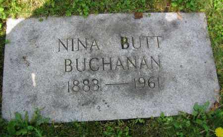 BUTT BUCHANAN, NINA - Clark County, Ohio | NINA BUTT BUCHANAN - Ohio Gravestone Photos