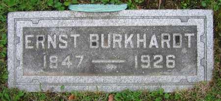 BURKHARDT, ERNST - Clark County, Ohio | ERNST BURKHARDT - Ohio Gravestone Photos