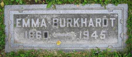 BURKHARDT, EMMA - Clark County, Ohio | EMMA BURKHARDT - Ohio Gravestone Photos