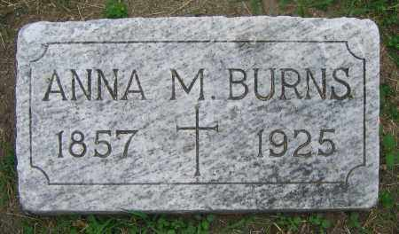BURNS, ANNA M. - Clark County, Ohio | ANNA M. BURNS - Ohio Gravestone Photos