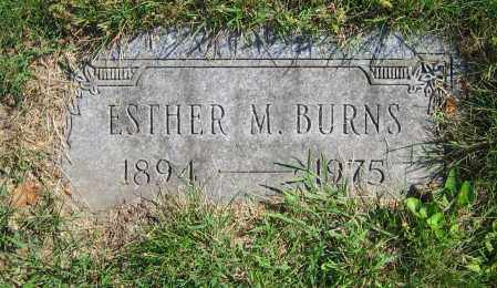 BURNS, ESTHER M. - Clark County, Ohio | ESTHER M. BURNS - Ohio Gravestone Photos