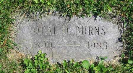 BURNS, OPAL D. - Clark County, Ohio | OPAL D. BURNS - Ohio Gravestone Photos