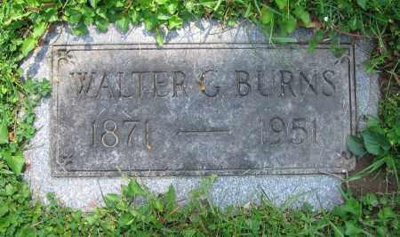 BURNS, WALTER G. - Clark County, Ohio | WALTER G. BURNS - Ohio Gravestone Photos
