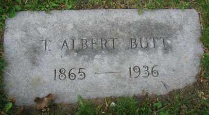 BUTT, T. ALBERT - Clark County, Ohio | T. ALBERT BUTT - Ohio Gravestone Photos