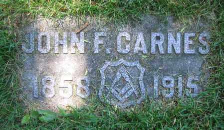 CARNES, JOHN F. - Clark County, Ohio | JOHN F. CARNES - Ohio Gravestone Photos