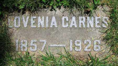 CARNES, LOVENIA - Clark County, Ohio | LOVENIA CARNES - Ohio Gravestone Photos