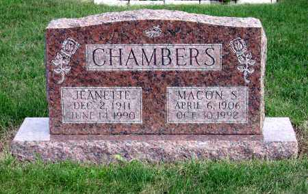 CHAMBERS, MACON S. - Clark County, Ohio | MACON S. CHAMBERS - Ohio Gravestone Photos