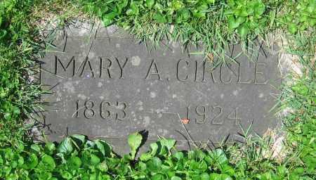 CIRCLE, MARY A. - Clark County, Ohio   MARY A. CIRCLE - Ohio Gravestone Photos