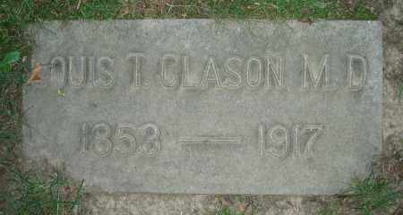 CLASON, LOUIS T.  M.D. - Clark County, Ohio | LOUIS T.  M.D. CLASON - Ohio Gravestone Photos
