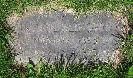 CLINGERMAN, JOHN PAUL - Clark County, Ohio | JOHN PAUL CLINGERMAN - Ohio Gravestone Photos